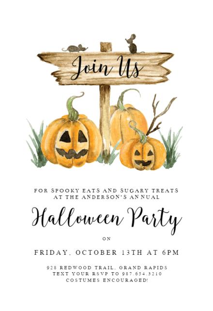 halloween party invitation templates