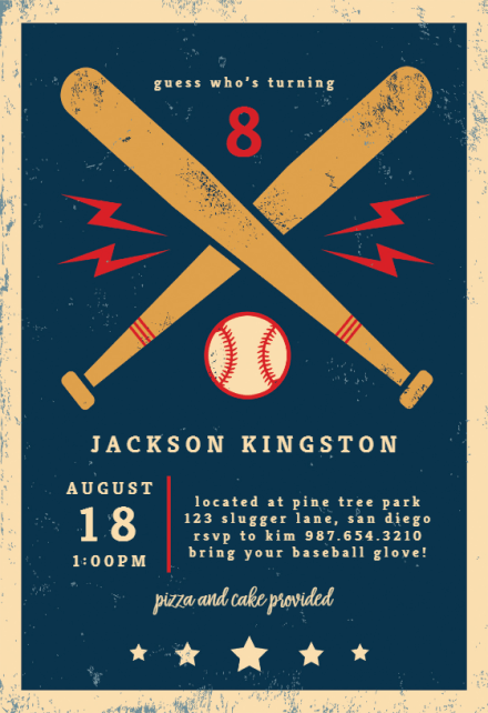 baseball birthday sports games