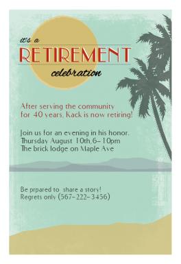 Its A Retirement Celebration Free Retirement Amp Farewell