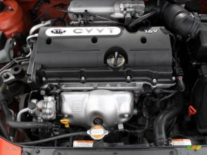 2009 Kia Rio LX Sedan 16 Liter DOHC 16Valve CVVT 4