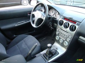 Black Interior 2005 Mazda MAZDA6 s Sport Hatchback Photo