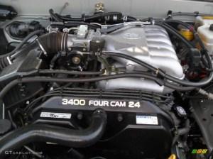 2002 Toyota 4Runner Limited 4x4 34L DOHC 24V V6 Engine
