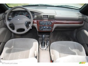 2002 Chrysler Sebring LX Convertible Sandstone Dashboard