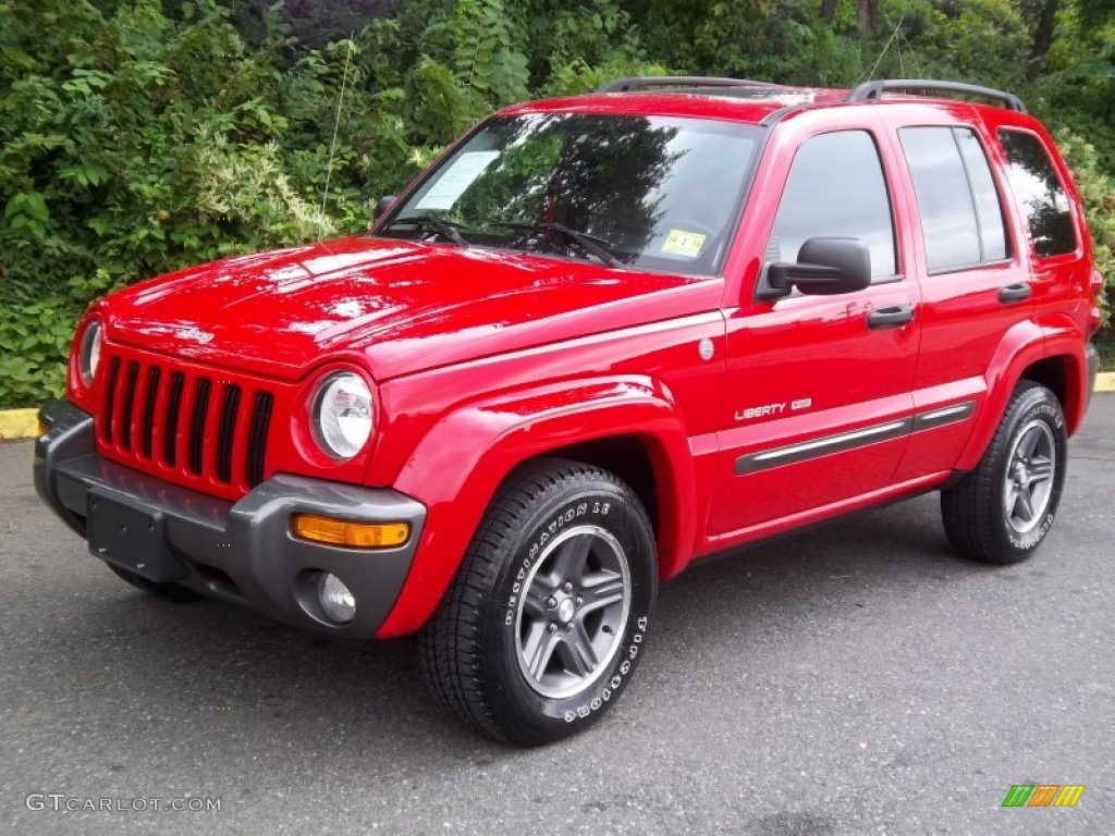 Flame Red Jeep Liberty