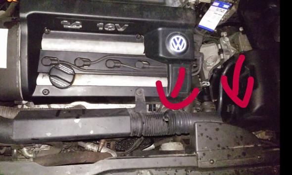 Golf Iv 1 4 16v Fehlendes Und Kaputtes Teil Im Motorraum Kfz Motor Volkswagen