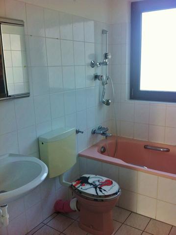 Kleines, altes Badezimmer billig aufpeppen (Haus, Wohnung