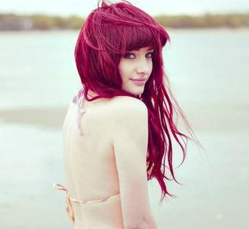 Lila Rot Haarfarbe Lila Haarfarbe Auf Braun