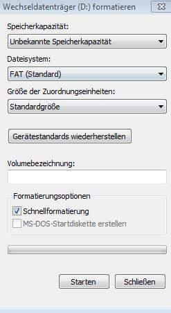 Usb Flash Drive Lasst Sich Nicht Formatieren Pc Windows Informatik