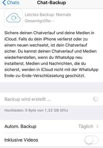 Whatsapp Backup Funktioniert Nicht Iphone Handy Apple