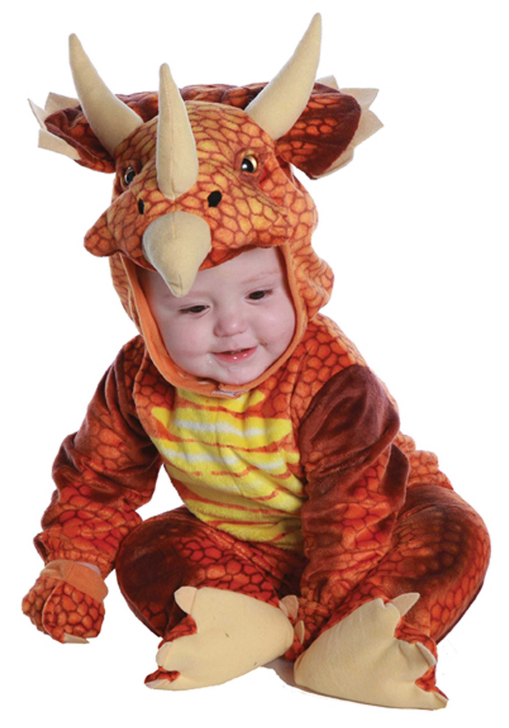Infant Toddler Rust Triceratops Costume