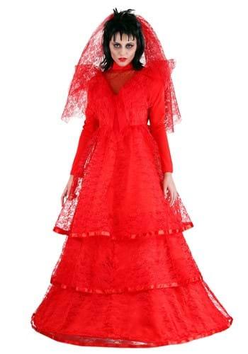 Red Gothic Wedding Dress Costume update2