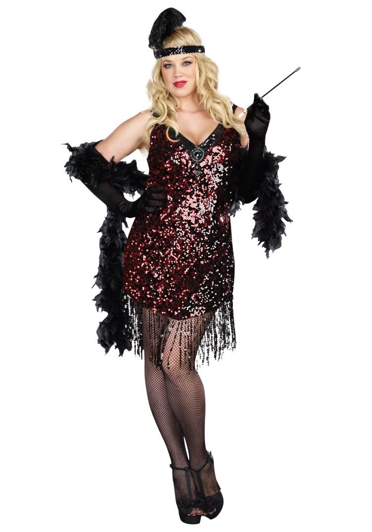 Plus Size Dames Like Us Flapper Costume 1X/2X 3X/4X