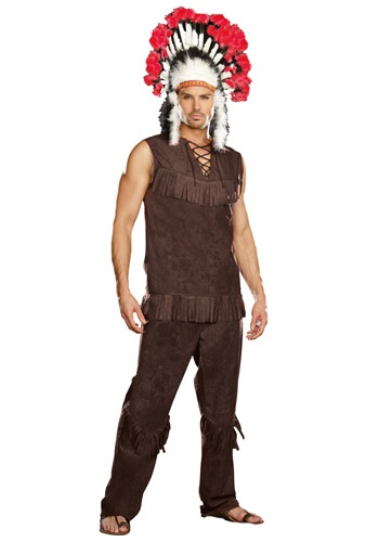 Mens Chief Long Arrow Indian Costume - $44.99
