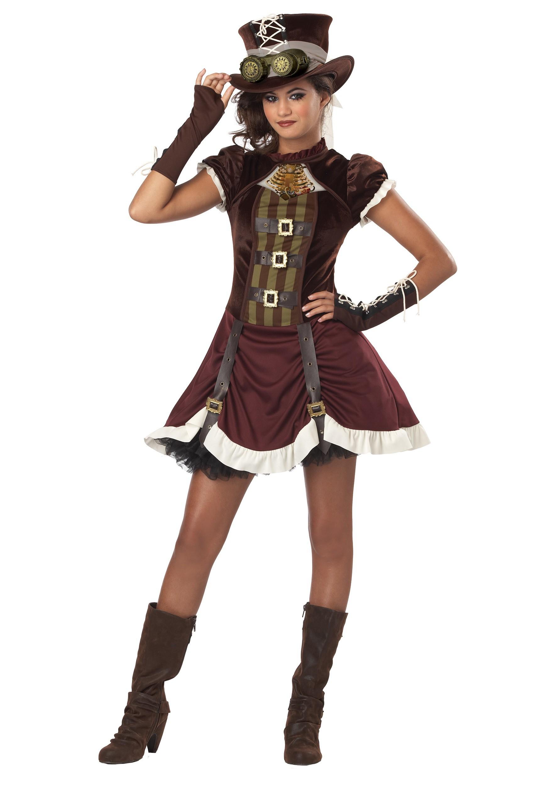 Tween Steampunk Costume For Girls