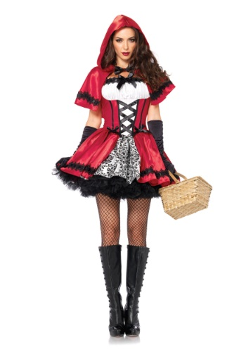 Gothic Red Riding Hood Adult Costume - $39.99