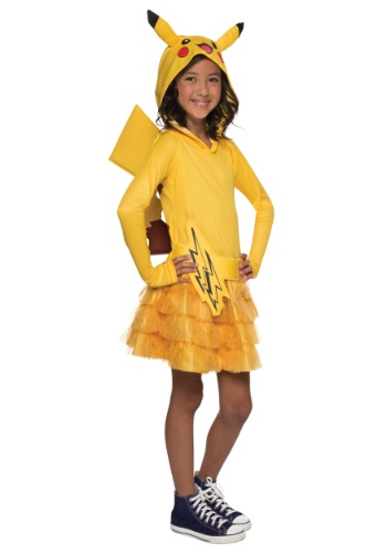 Girls Pikachu Hoodie Dress - $39.99