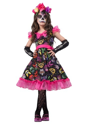 Girls Sugar Skull Sweetie Costume