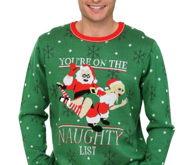 Mens Youre On The Naughty List Christmas Sweater