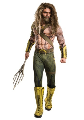 Deluxe Adult Dawn of Justice Aquaman Costume - $54.99