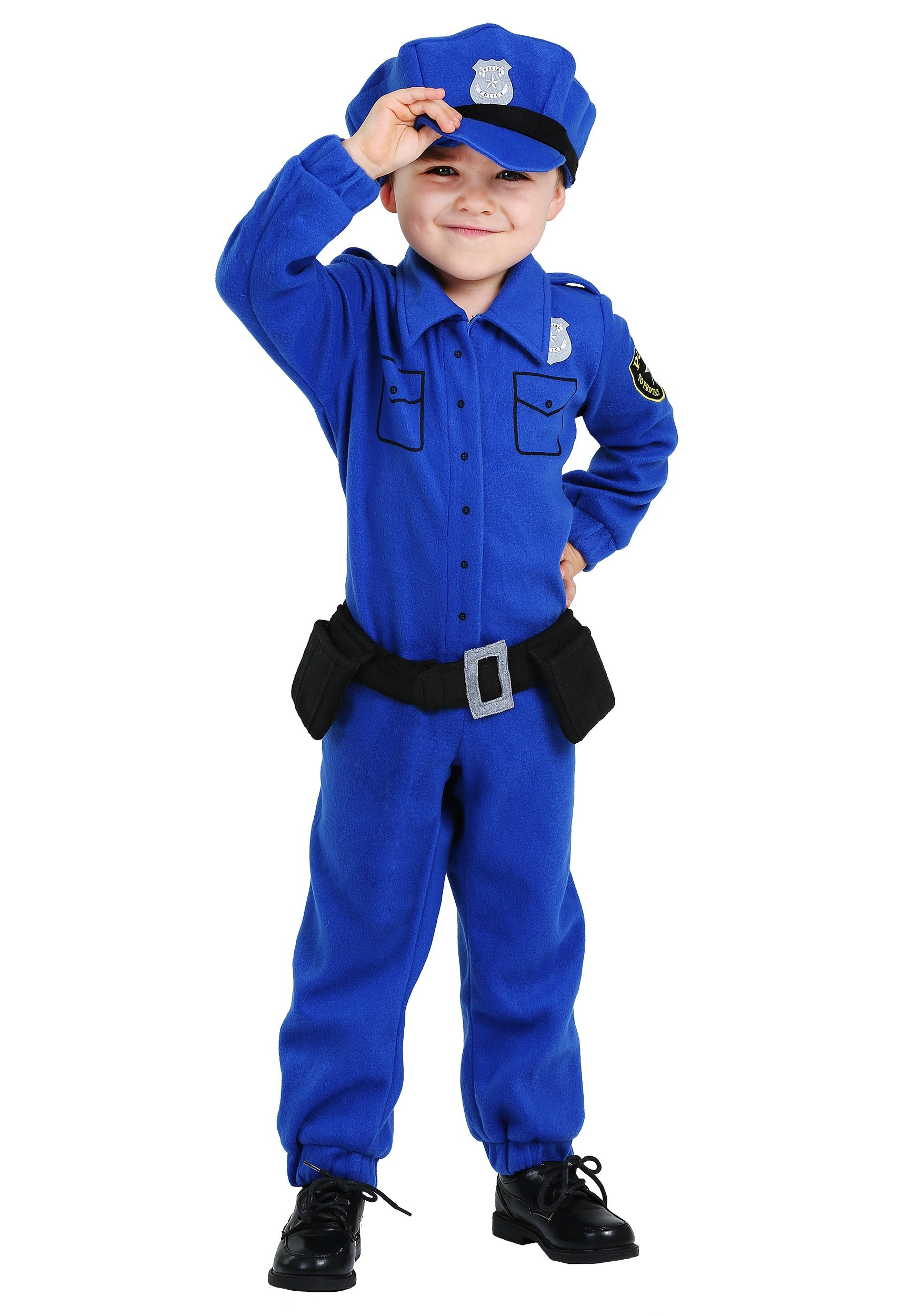 Fleece Police Costume For Toddlers
