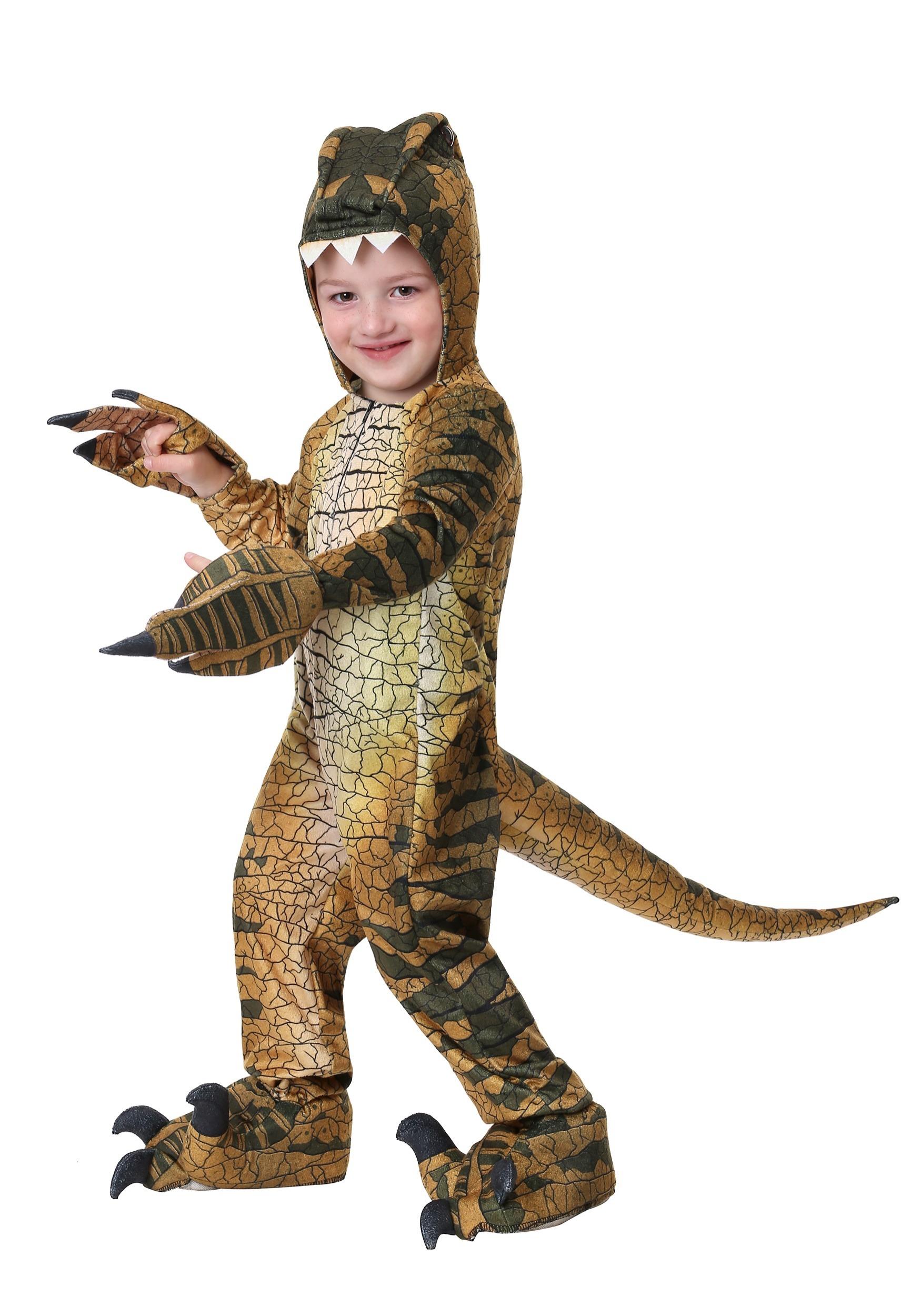Beautiful Ravenous Raptor Dinosaur Costume For Kids