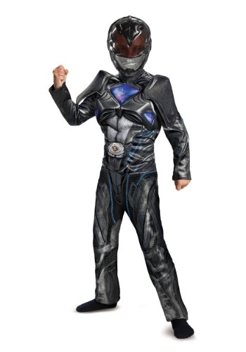 Power Rangers Movie Deluxe Black Ranger Boys Costume