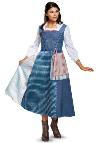 Deluxe Belle Village Dress Womens Costume