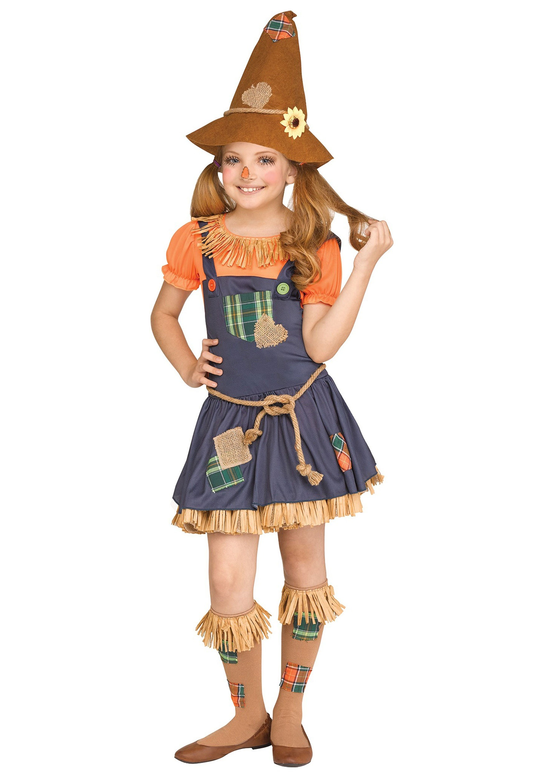 Sweet Scarecrow Costume For Girls