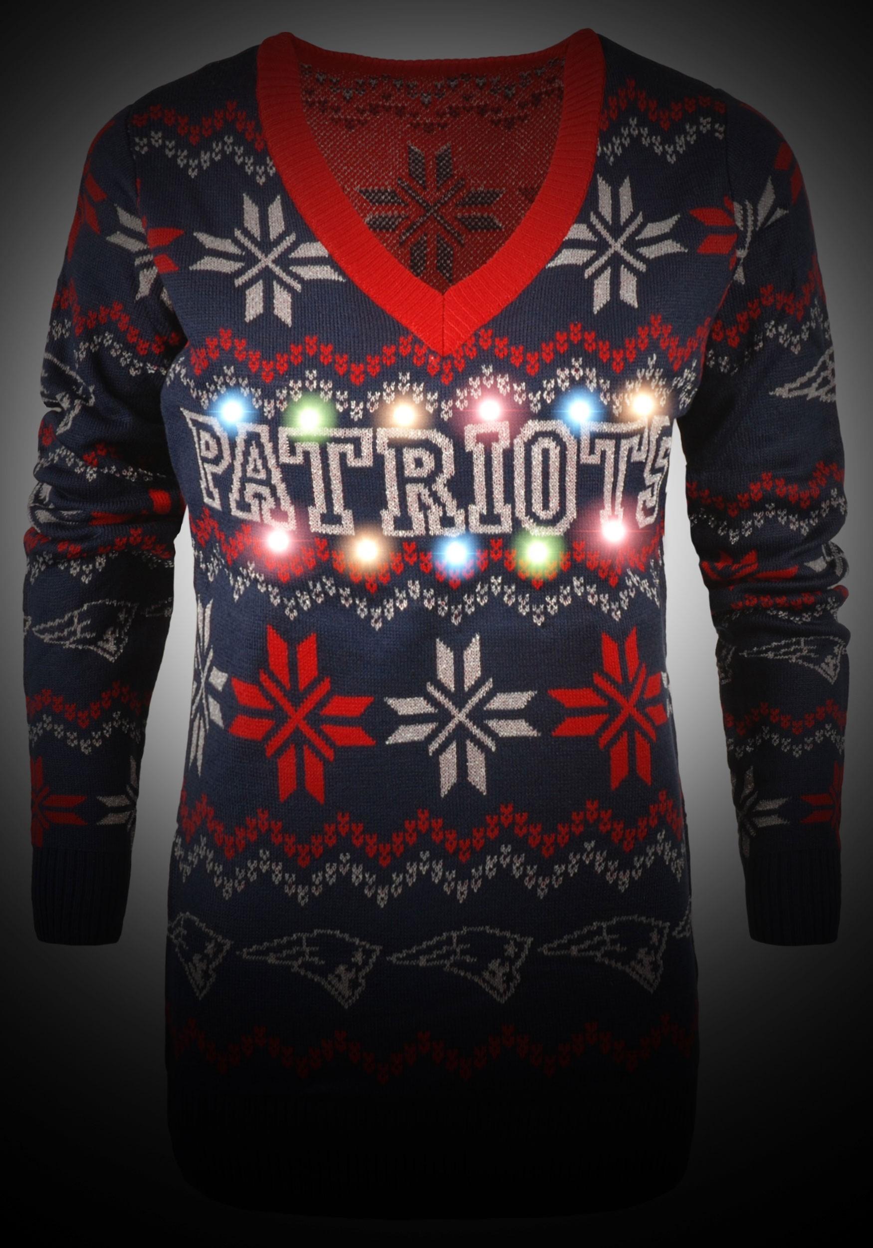 New England Patriots Women S Light Up V Neck Bluetooth