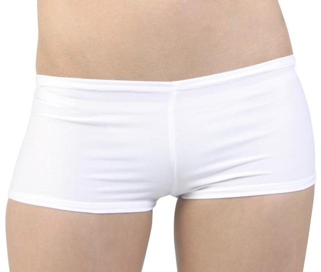 Sexy White Lycra Hot Pants