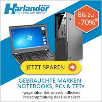 Harlander - gebrauchte Marken PCs und Notebooks