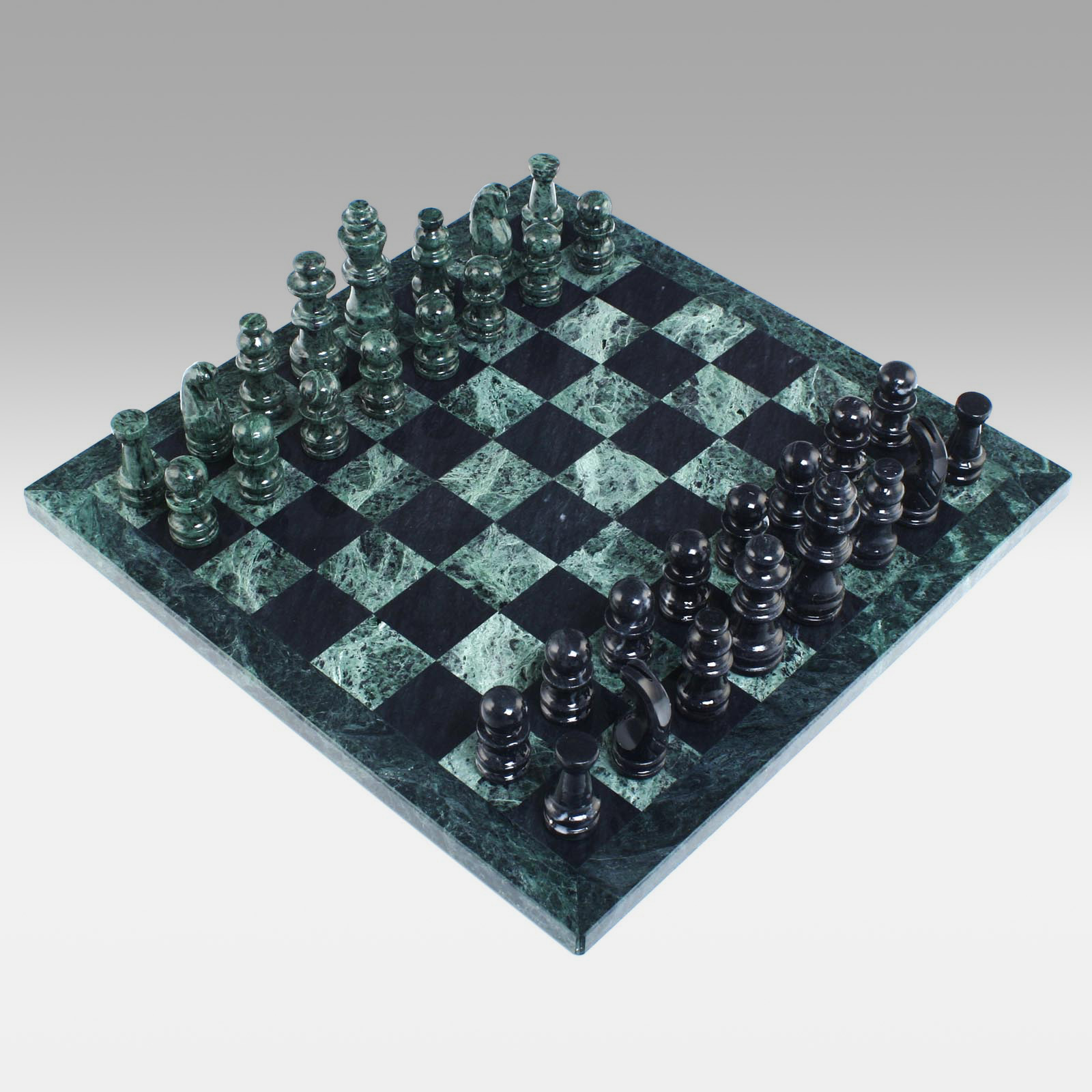 Black And Green Marble Chess Set Chess Sets At Hayneedle
