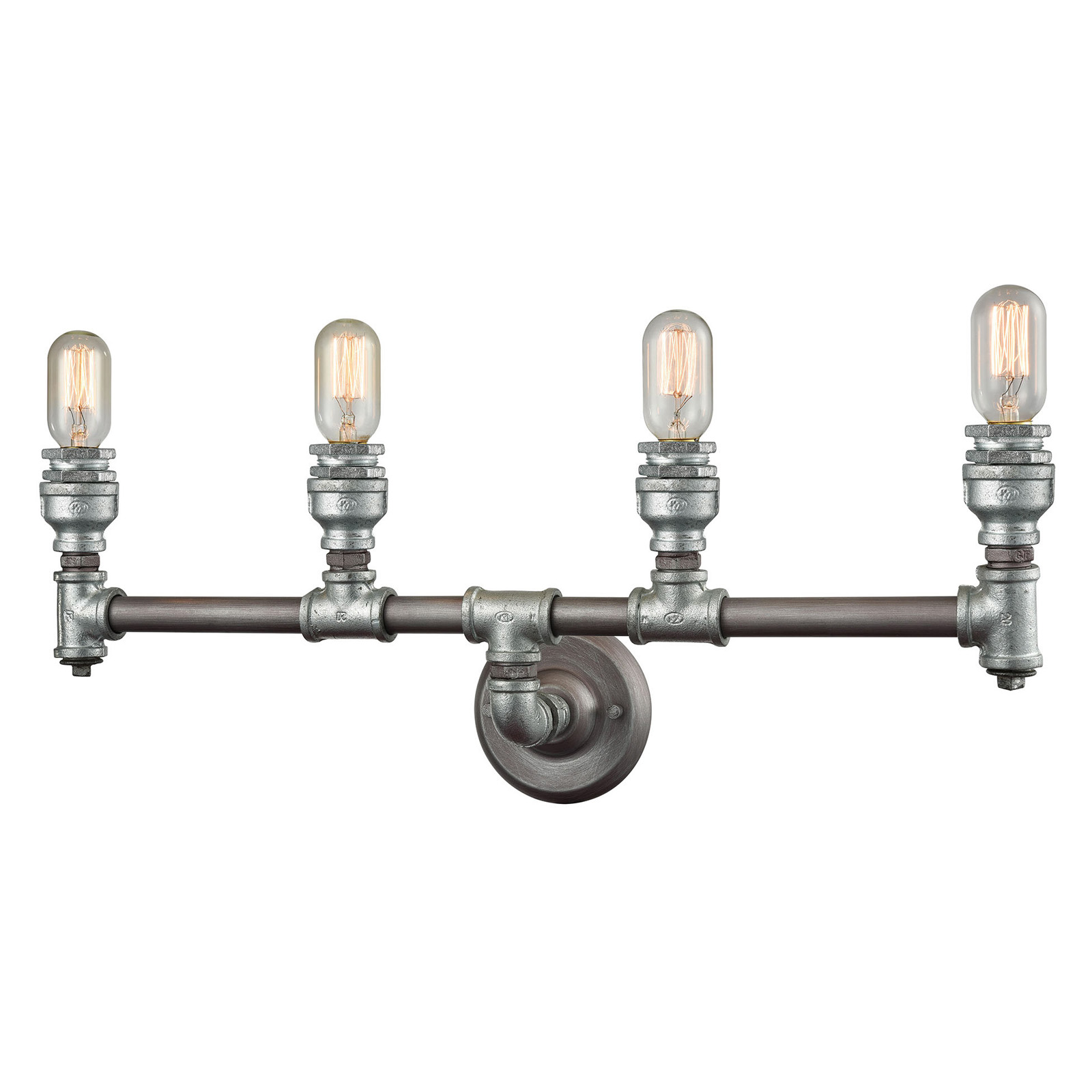 Elk Lighting Cast Iron Pipe 4 4 Light Bathroom