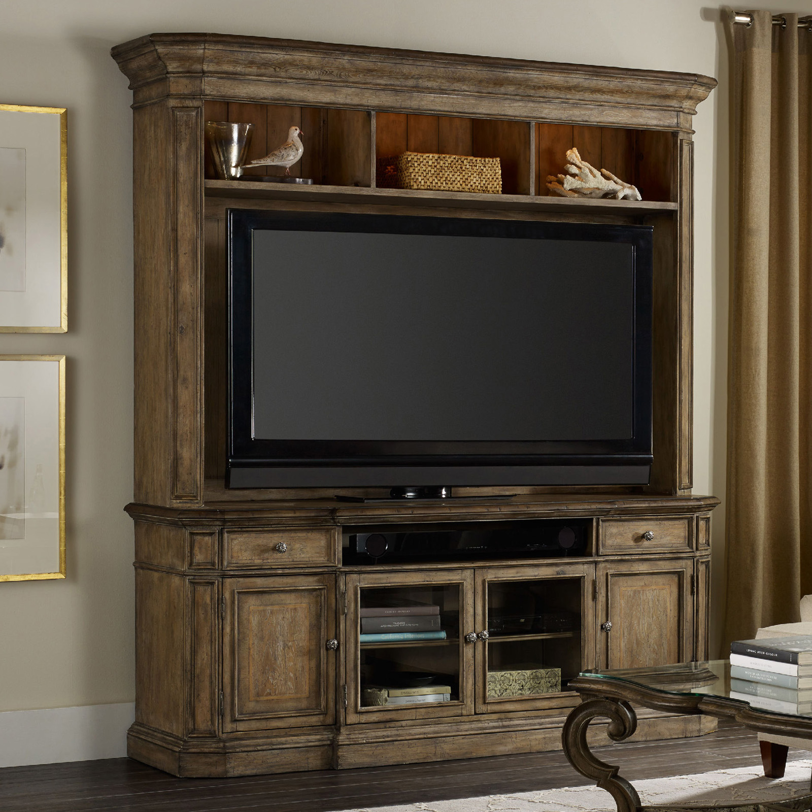 Hooker Furniture Solana 2 Piece Entertainment Center Tv Stands At Hayneedle