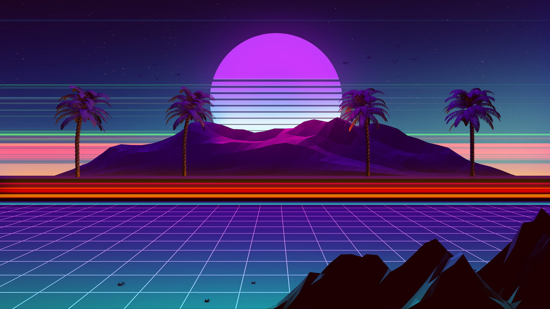 1920x1080 Retro Wave 4k Laptop Full Hd 1080p Hd 4k Wallpapers Images Backgrounds Photos And Pictures