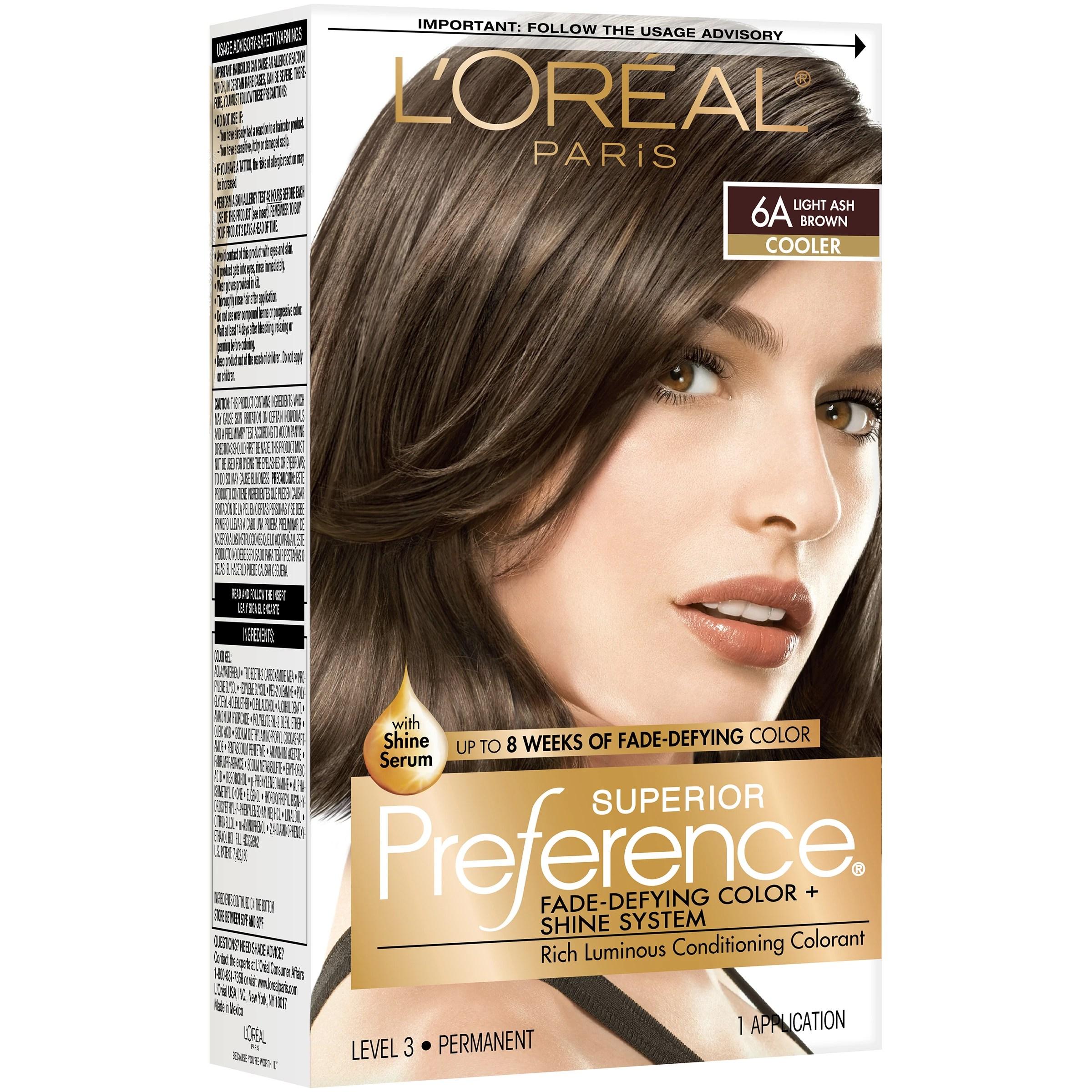 L Oreal Paris Superior Preference Permanent Hair Color 6a Light Ash Brown Shop Hair Color At H E B