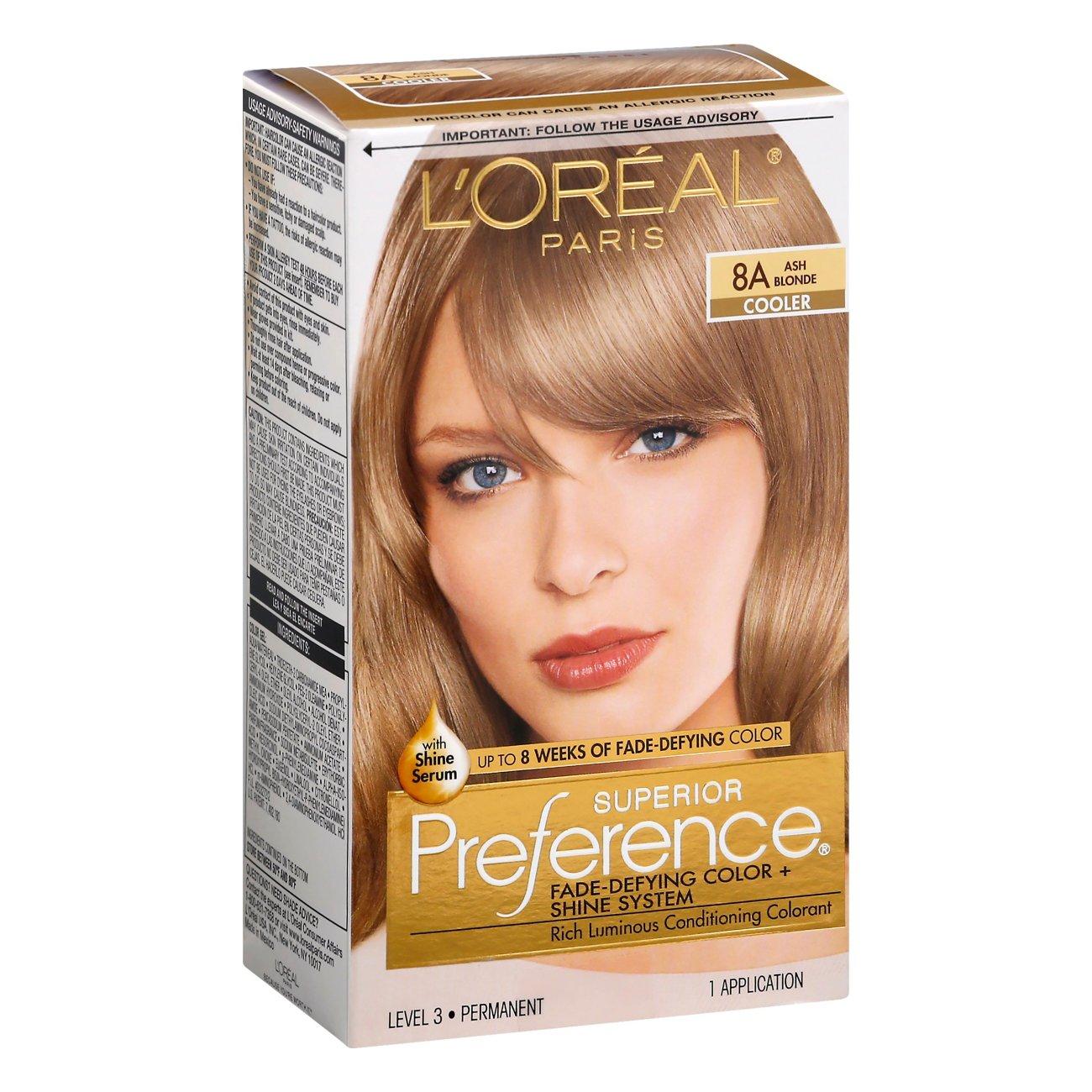 L Oreal Paris Superior Preference Permanent Hair Color 8a Ash Blonde Shop Hair Color At H E B