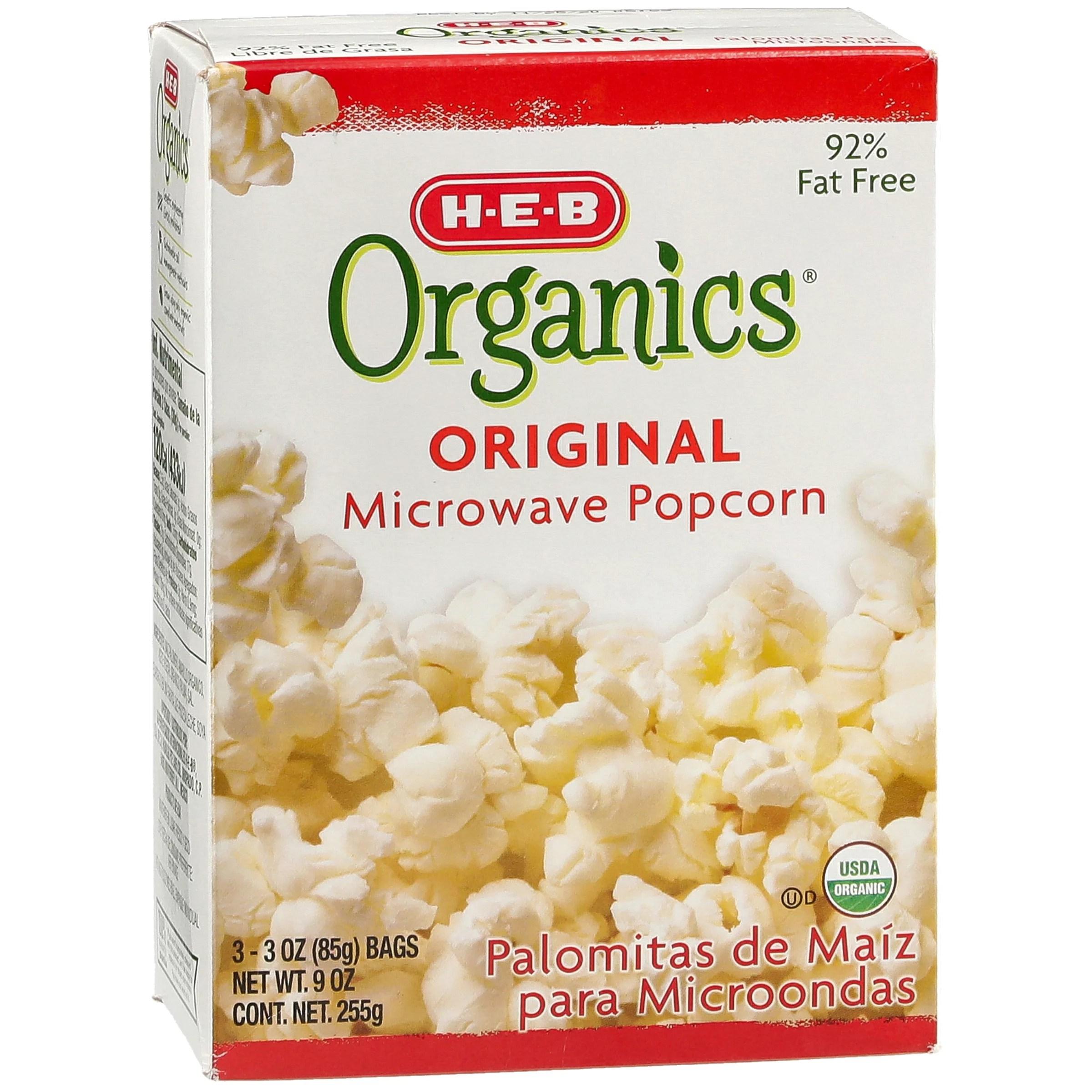 h e b organics original microwave popcorn