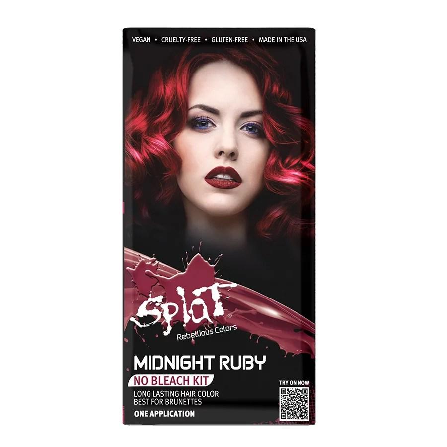 Splat 30 Wash Midnight Ruby Shop Hair Color At H E B
