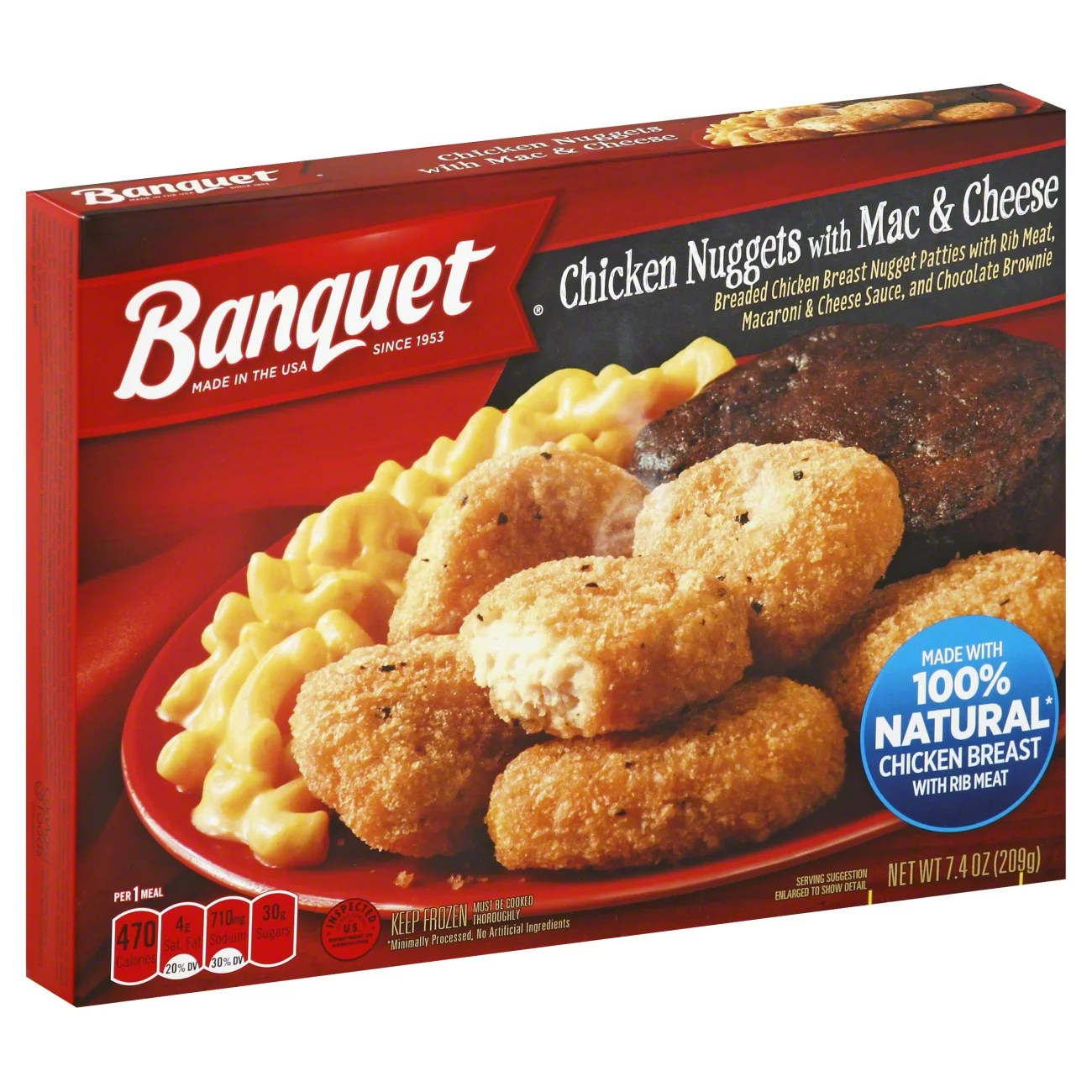 banquet chicken nuggets with mac cheese