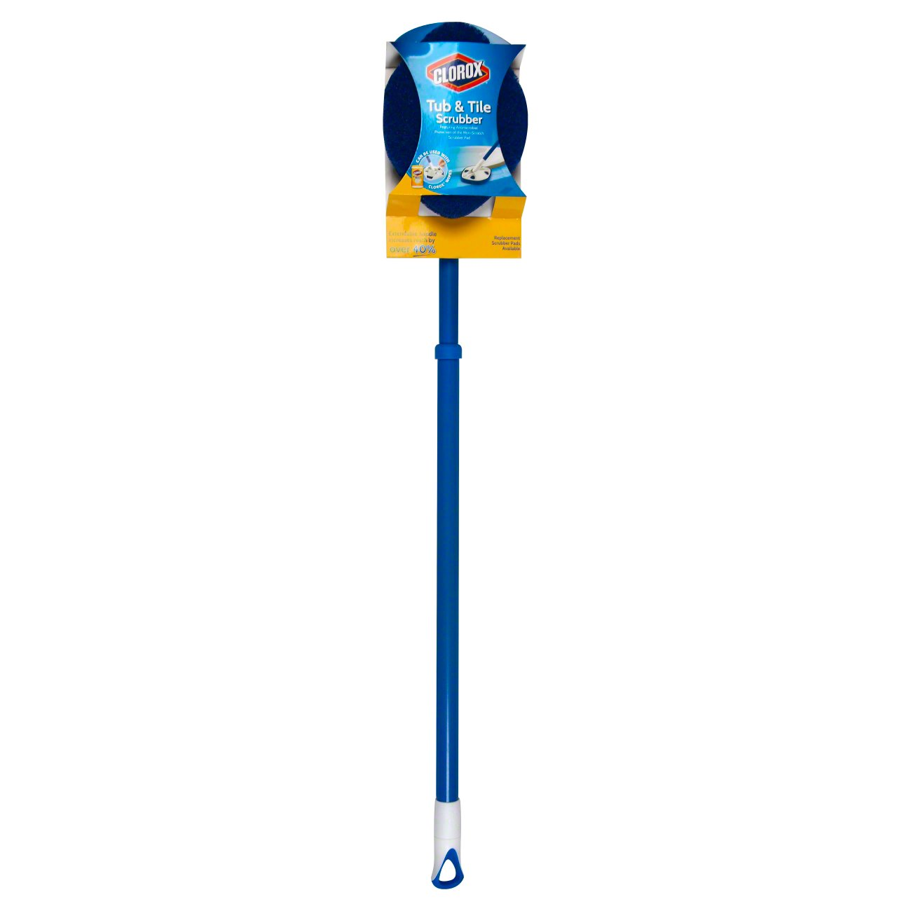 clorox tub and tile scrubber blue and white