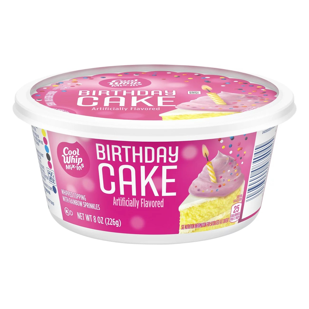 Kraft Cool Whip Mix Ins Birthday Cake Whipped Topping Shop Sundae Toppings At H E B