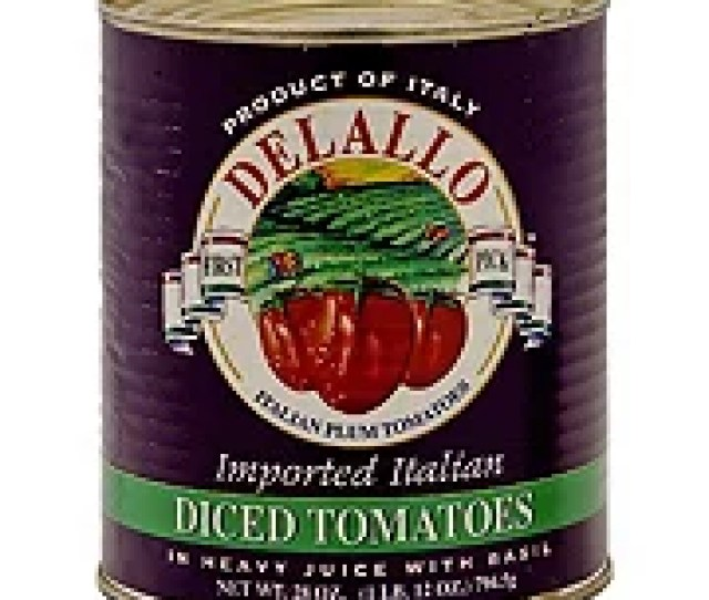 Delallo Diced Tomatoes In Heavy Juice With Basil