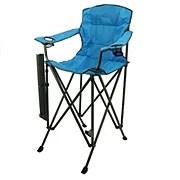 outdoor solutions tall boy blue folding