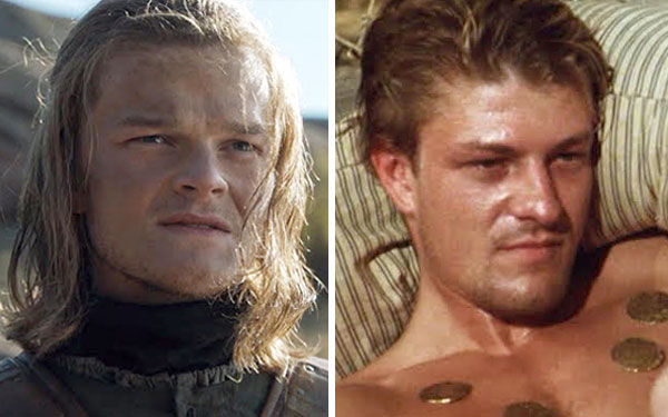 This Side By Side Of Young Ned Stark And Young Sean Bean