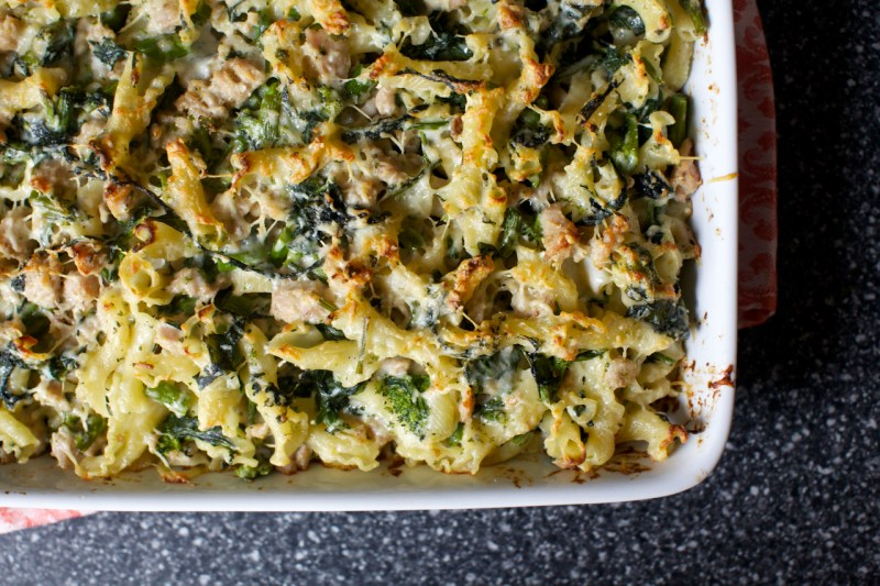 baked-pasta-with-broccoli-rabe-and-sausage