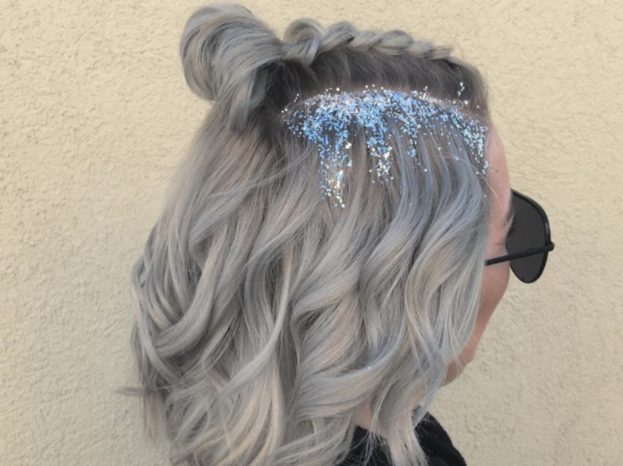 OMG This Artsy Ice Queen Hairstyle Is The Best Festive