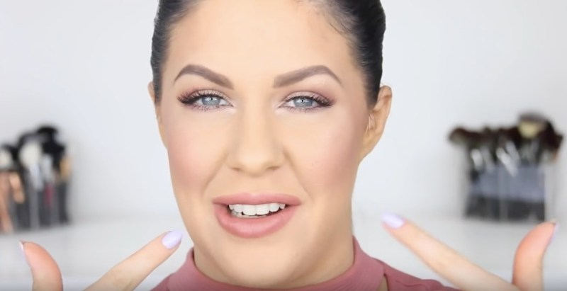This super helpful YouTube video shows how to keep foundation on your nose all day, because the struggle is very real