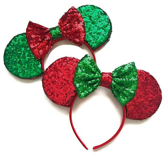 Picture of Christmas Minnie Mouse Ears