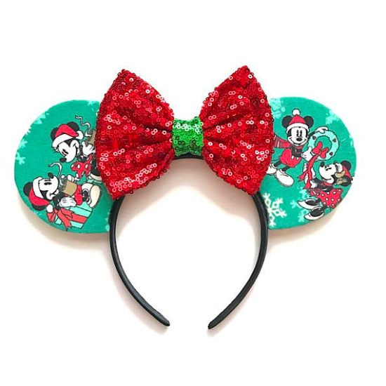 Picture of Christmas Minnie Mouse Ears Santa